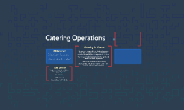 Catering Operations