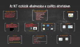 Az IKT eszközök alkalmazása a szolfézs oktatásban
