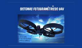 SISTEMAS FOTOGRAMÉTRICOS UAV