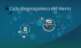 Ciclo Biogeoquímico del Hierro