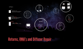 Returns, RMA's and Diffuser Repair