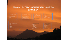 TEMA 6: ESTADOS FINANCIEROS DE LA EMPRESA