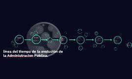 linea del tiempo de la evolución de la Administracion Public