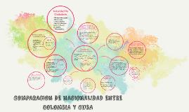 COMPARACION DE NACIONALIDAD ENTRE COLOMBIA Y CUBA