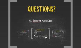 Ms. Eiswert's Math Class