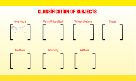 classification of subjects
