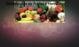 Desinfección de Frutas y Hortalizas