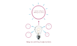 Communicating to kids is an art and a science.