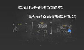 PROJECT MANAGEMENT SYSTEM(PMS)
