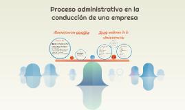 procesos administrativos en la conducción de una empresa