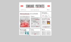 SEMIOLOGIE - PERITONITES