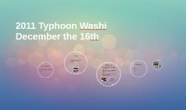 2011 Typhoon Washi
