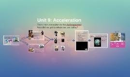 Copy of Unit 9: Acceleration
