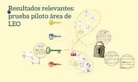 Resultados relevantes: prueba piloto área de LEO