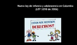 Copy of Ley de infancia y adolecencia en colombia