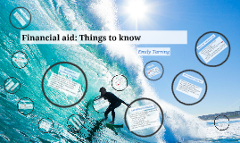 Financial aid: Things to know