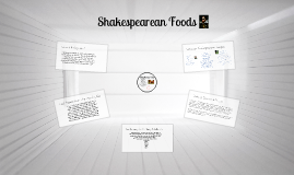 Shakespearean Food