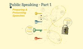 Public Speaking - Part 1
