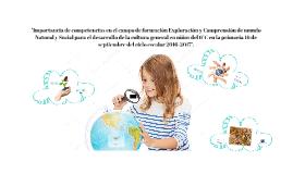 Importancia de las competencias en el campo formativo Explor