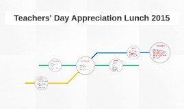 Teachers' Day Appreciation Lunch 2015