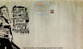 The Reliability of Knowledge gained from Graffiti