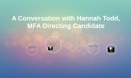 Interview - Hannah Todd