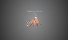 VALIDAR UNA PAGINA WEB
