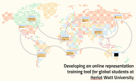 Developing an online representation training tool for global