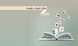 Grade 3 Book Talks