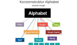 Konzernstruktur Alphabet