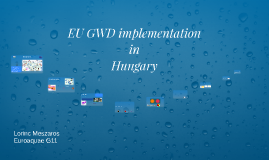 EU GWD implementation