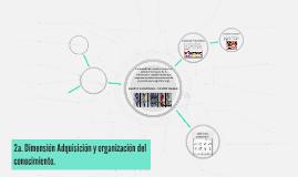 2a. Dimensión Adquisición y organización del conocimiento.