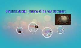 Christian Studies Timeline of The New Testament