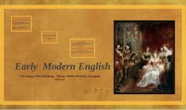 Early  Modern Engilsh