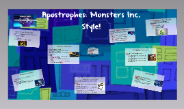 Apostrophes: Monsters Inc. Style!
