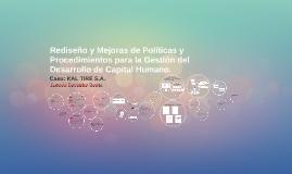 Rediseño y mejoras de Políticas y Procedimientos par la Gest