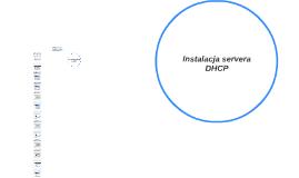 Instalacja servera DHCP
