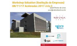 Palestra Valuation 08/11/17 Aceleradas do SevnaSeed - Ciclo 2 2017