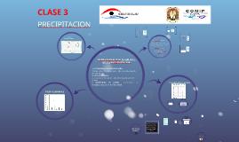 Observatorio del Agua Clase 3: PRECIPITACION