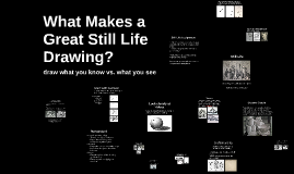 What Makes a Great Still Life Drawing?