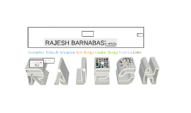 Copy of RAJESH BARNABAS' PORTFOLIO