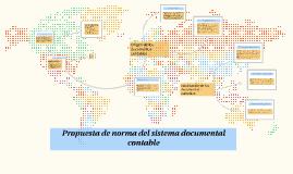 Propuesta de norma del sistema documental contable