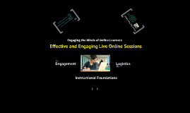 Effective and Engaging Live Online Sessions