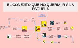 EL CONEJO QUE NO  QUERÍA IR A LA ESCUELA