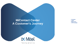 MiContact Center - A Customer Journey