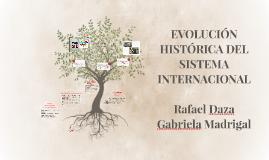 EVOLUCIÓN HISTÓRICA DEL SISTEMA INTERNACIONAL