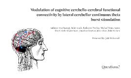 Modulation of cognitive cerebello-cerebral functional connectivity by lateral cerebellar continuous theta burst stimulation