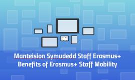 Manteision Symudedd Staff Erasmus+