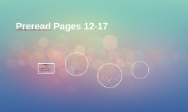 Preread Pages 12-17