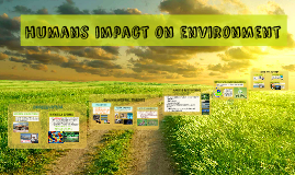 humans impact on environment